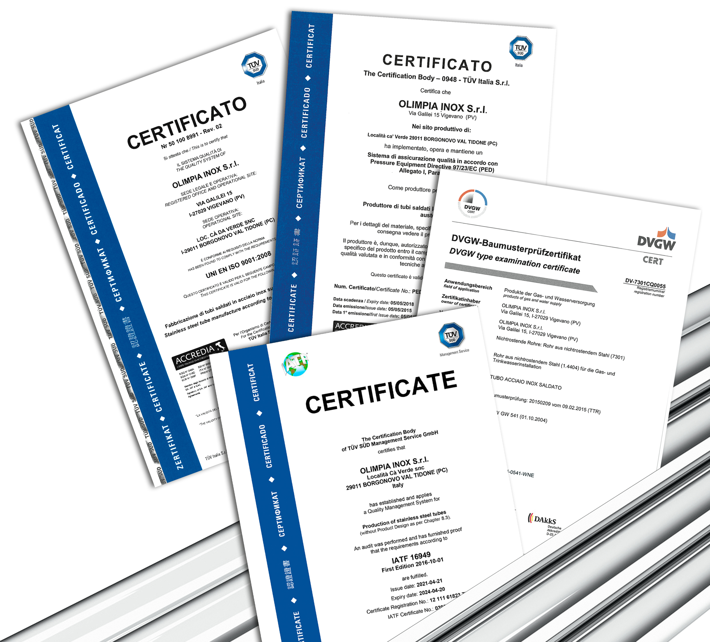 certificati gruppo 2021